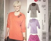 Uncut McCall's M6203 Pattern -Fitted Pullover Tunics - Sizes XS, S, M