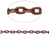 32 feet Antique Copper Cable Chain - 4.5x3mm - Wholesale Chain, Wholesale Supplies, Bulk Chain, Copper Findings, Ships from USA - CH41