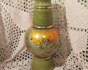 Vintage Mid Century Modern Green Bitossi Vase for Rosenthal-Netter