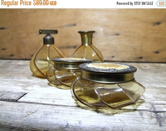SALE Antique Amber Perfume Bottles Instant collection