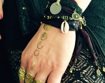 Crescent Moon Charm Cuff & Wrist Wrap