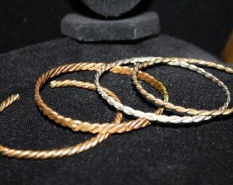 Four Vintage Bracelets, Brass and Other