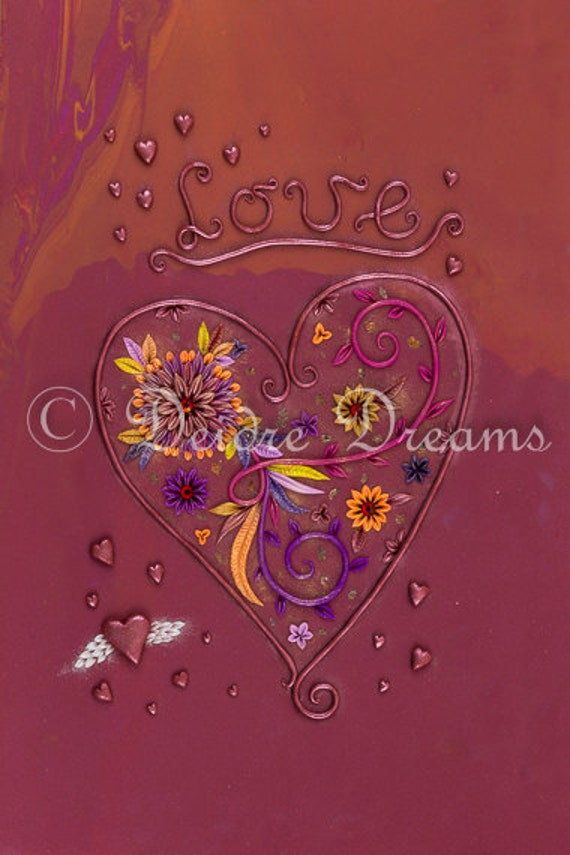 Red Love Wall Decor : Items similar to red love decor heart