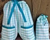 Shoe Pants Travel Bags, Plaid Shoe Bag, Free Gift Bag, Travel Shoe Bag, Shoe Travel Bag
