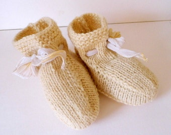 Shoes, baby, booties, boots, wool, silk, leather,