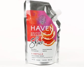 HAVEN Shine Glass Cleaner - Grapefruit Bergamot - 4 Refills