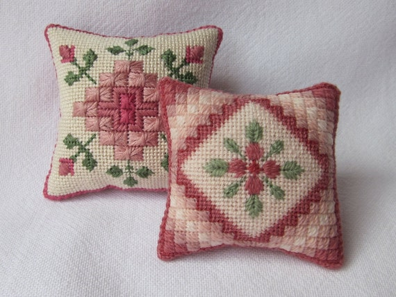 2 Canvas Work Embroidery Patterns For Pincushions Digital