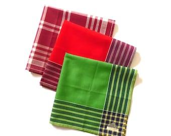 Cotton Handkerchiefs Three Vintage New