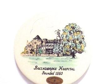 Vintage Ceramic Trivet Bolingbroke Hospital Centenary 1880-1980 Celebration Tile Trivet