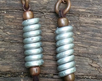 Copper and Aluminum Coil Earrings