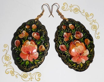 Earrings in the Russian style  in handmade