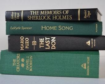 Book, Books, Green Books, Black Books, Books for Decorating, Home Decor