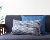 Sample Sale! Dot Block Print Pillow in Navy