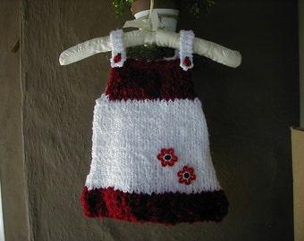 Baby Dress, Baby Jumper, Knit Dress, Hand Knit Baby Dress, Hand Knit Dress