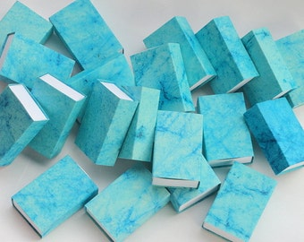 50 teal blue or Turquoise blue Packaging box, Match box, Jewelry Packaging Boxes, Wedding favor box, bulk order boxes