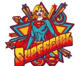 DC Comics Embroidered Iron On Movie Patch Applique - Supergirl Pop Art DC21