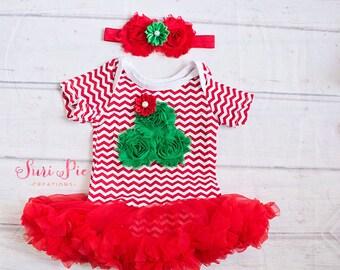 Christmas outfit..Christmas Dress Headband.. Christmas Tutu Dress.Christmas Infant Dress Bodysuit, Toddler Christmas Outfit.Christmas Photos