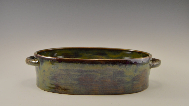 Ceramic Stoneware Baking : Quart stoneware casserole dish pottery baking ceramic