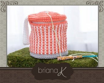 Cake Yarn Crafter Bag Wristlet Crochet PATTERN, Purse, Tote, Instant Download