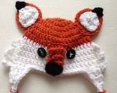 Crochet Baby Fox Hat, Crochet Photo Prop, Baby Accessories, Crochet Newborn Hat, Woodland Animals
