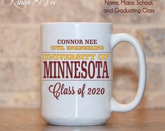 PERSONALIZED College Acceptance Gift Mug, Graduation, University Acceptance, Alma Mater, Class of 2021 Graduation Mug College Mug Custom Mug