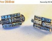 Reserved for fmartin3780 Vintage Rhinestone Art Deco Revival Earrings - Enchanting