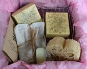 Lavender Chamomile Spa Kit, Soap Box, Relaxation Kit, Lavender Chamomile Soap, Lavender Chamomile Bath Tea, Gift for Her, Bath Gift, Natural