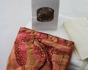 Pink and Gold Cotton Lotus Birth Kit -  lined