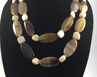 Earthtone Necklace with Matching Clasp