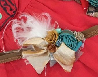 Baby Girl Headband- matilda jane heaband- Flower Girl Headband-