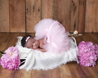LIGHT PINK TUTU Set, Newborn Props Girl, Newborn Props, Newborn Tutu, Baby Tutu, Pink Tutu, Newborn Photo Prop, Photo Prop, Tutu Headband