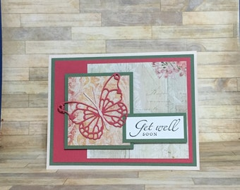 Get well card, handmade card, greeting card, all occasion card