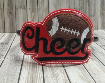 Cheer Football High School Spirit Vinyl Embroidered Slider Headbands