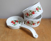 Strawberry Ramekin Strawberries and Cream / Strawberry Spoon rest / 2 for the price of one