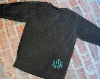 Comfort Colors sweatshirt, monogrammed sweatshirt, sweatshirt with monogram, comfort color sweatshirt, personalized sweatshirt,comfort color