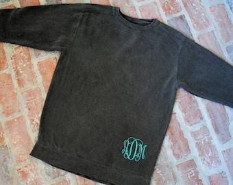 SALE Comfort Color Sweatshirt - Lower Left Monogram - Great to wear with Leggings