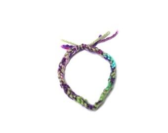 Friendship Bracelet - Crochet Necklace - Kids Jewelry - Stocking Stuffer - Dress Up