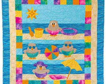 Beach Hoot Instant Download PDF Quilt Pattern