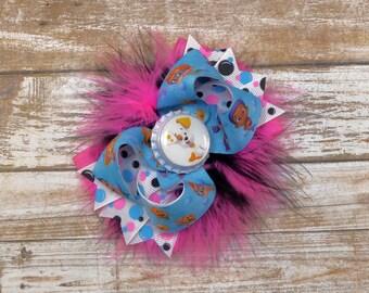 Bubble Guppies Polka Dot Hot Pink Boutique Bow