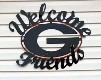 """UGA Welcome """"G"""" Friends Sign"""