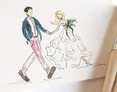 Custom Illustrated Wedding Portrait