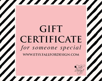 Gift Certificate to Fall For Design