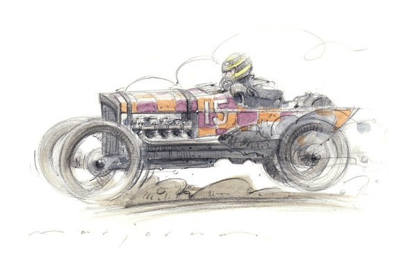 V8 GN Limited Edition Print