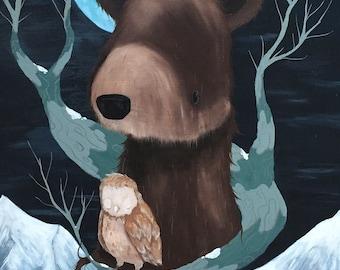 "Original Painting ""Hibernate"" 24 x 36 on canvas"