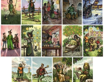 Prints - Everyday Witch Tarot - Choose from Suit of Pentacles