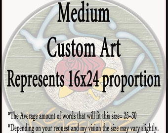 """Medium Custom~Mixed Media wood and resin wall art~Anniversary for Him~Anniversary for Her. 15""""x24"""", 18"""" round"""