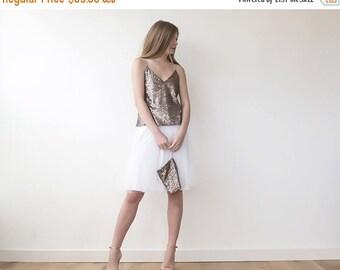 Tulle mini ivory wedding skirt, Mini tulle bridal  skirt