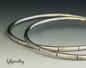 Silver Bangle, Stacking Bangle, Sterling Silver Bangle, Statement Bangle,  Bangle, Sterling Silver, Artisan Made, Metalsmith Jewelry