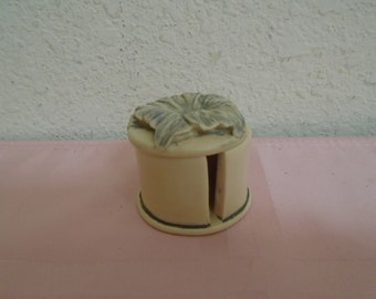 Beautiful Vinage Ceramic Roll of Stamp Box! - REDUCED