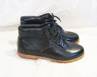 Vintage Rubber Rain or Snow Ankle Boots, size 8.5